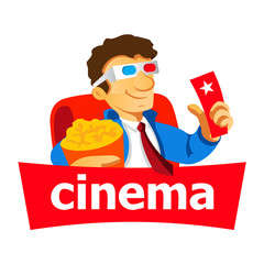 Cinema man logo
