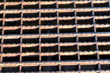 Rusty Grate Background