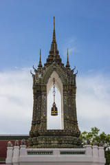 Beautiful bell tower of Wat Pho
