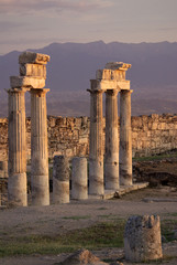 Ruins of ancient Hierapolis, Pamukkale. Turkey