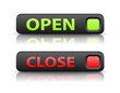 vector green and red state indicator buttons