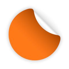 vector orange blank bent sticker