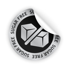 vector sugar free bent sticker