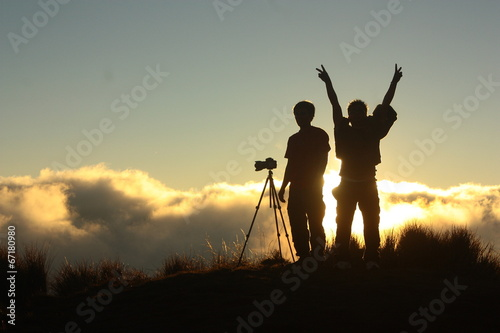 Mt Pulag junior summit sunset.