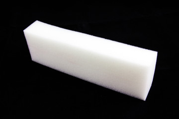 white sponge isolated