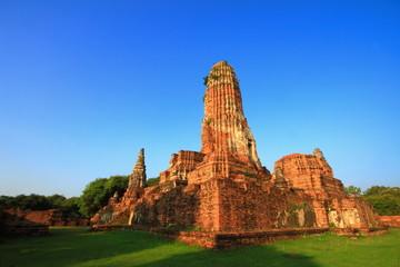 Old temple of Wat Phra Ram, at Ayutthaya Thailand.