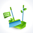 Ecology symbol dustpan and brush