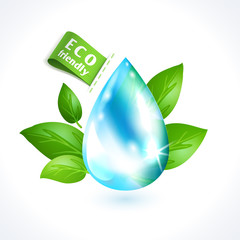 Ecology symbol water drop