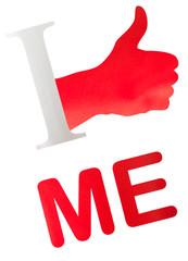 concept psychologie : I love me, estime de soi, fierté