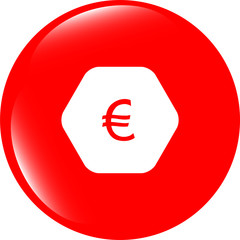 web icon on cloud with euro eur money sign