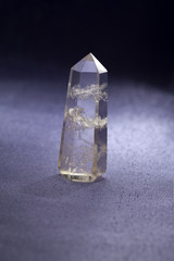 Quartz mineral  rock crystal