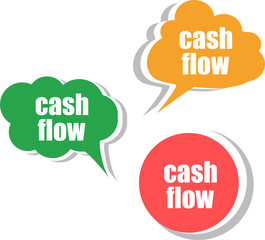 cash flow. Set of stickers, labels, tags. Business