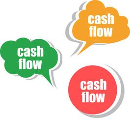 cash flow. Set of stickers, labels, tags. Business