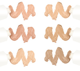 Different tones of foundation