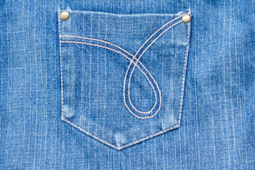 Blue Denim Jeans Texture with Pocket