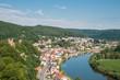 canvas print picture - Neckar bei Neckarsteinach