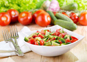 bowl of fresh vegetable salad