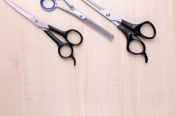 Professional hairdresser tools  scissors