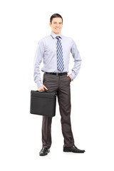 Full length portrait of a confident businessman