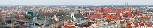Fototapeta Panoramic cityscape of Wroclaw, Poland