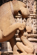 Statue in Khajuraho temple