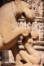 Statue in Khajuraho temple