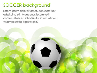 Soccer ball vector background with circular elements