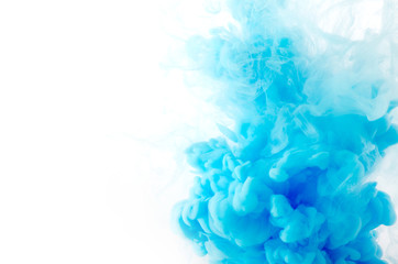 Cloud of ink in water