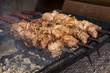 cooking meat barbecue