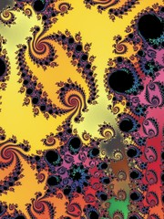 Textural fractal background in a bright colors