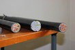 Leinwanddruck Bild - Der Querschnitt verschiedener mehradriger Kabel