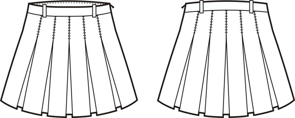 Vector illustration of women's skirt