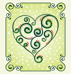decorative heart symbol