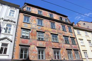 Das Gemalte Haus (Herzogshof) in der Herrengasse in Graz