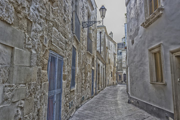 Old alley  in Lecce