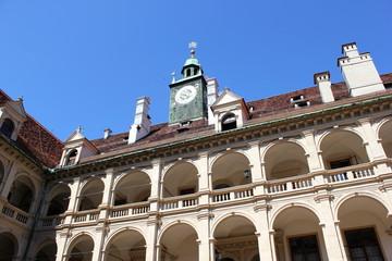 Der berühmte Arkadenhof des Landhauses in Graz