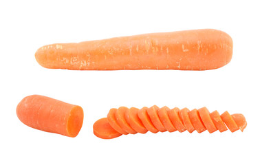 set carrot isolated on white background