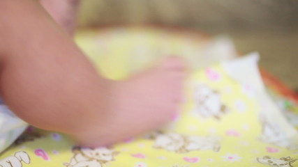 FullHD video of newborn baby's feet