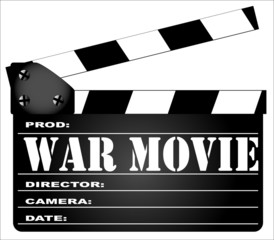 War Movie Clapperboard
