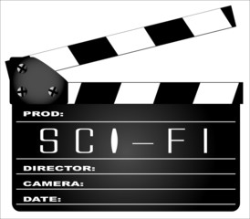 Science Fiction Clapperboard