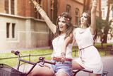 Summertime is in the air for boho girls poster