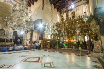 Church of the Nativity interior, Bethlehem, Israel