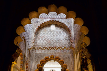 Mosque arch, Interior detail with beautiful decoration