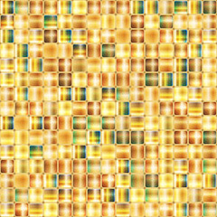 Seamless abstract background of gold mosaic.