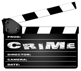 Crime Movie Clapperboard