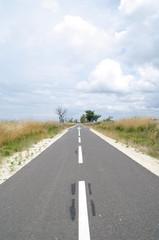 Fahrradweg in Lacanau Ozean 4