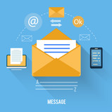 Envelope with message and email technology