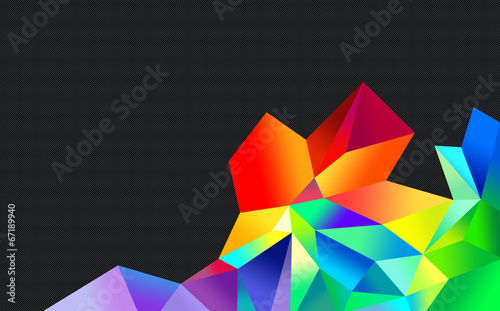 colourful crystal abstract