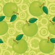 Seamless background, apples and rings