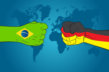 Germany versus Brazil